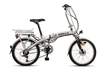 "Orbita 20"" Evolution - Bicicleta electrica de 7 velocidades, color gris"