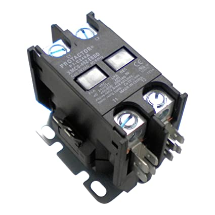 protactor 2 pole 40 amp heavy duty ac contactor replaces virtually all  residential 2 pole models - - amazon com