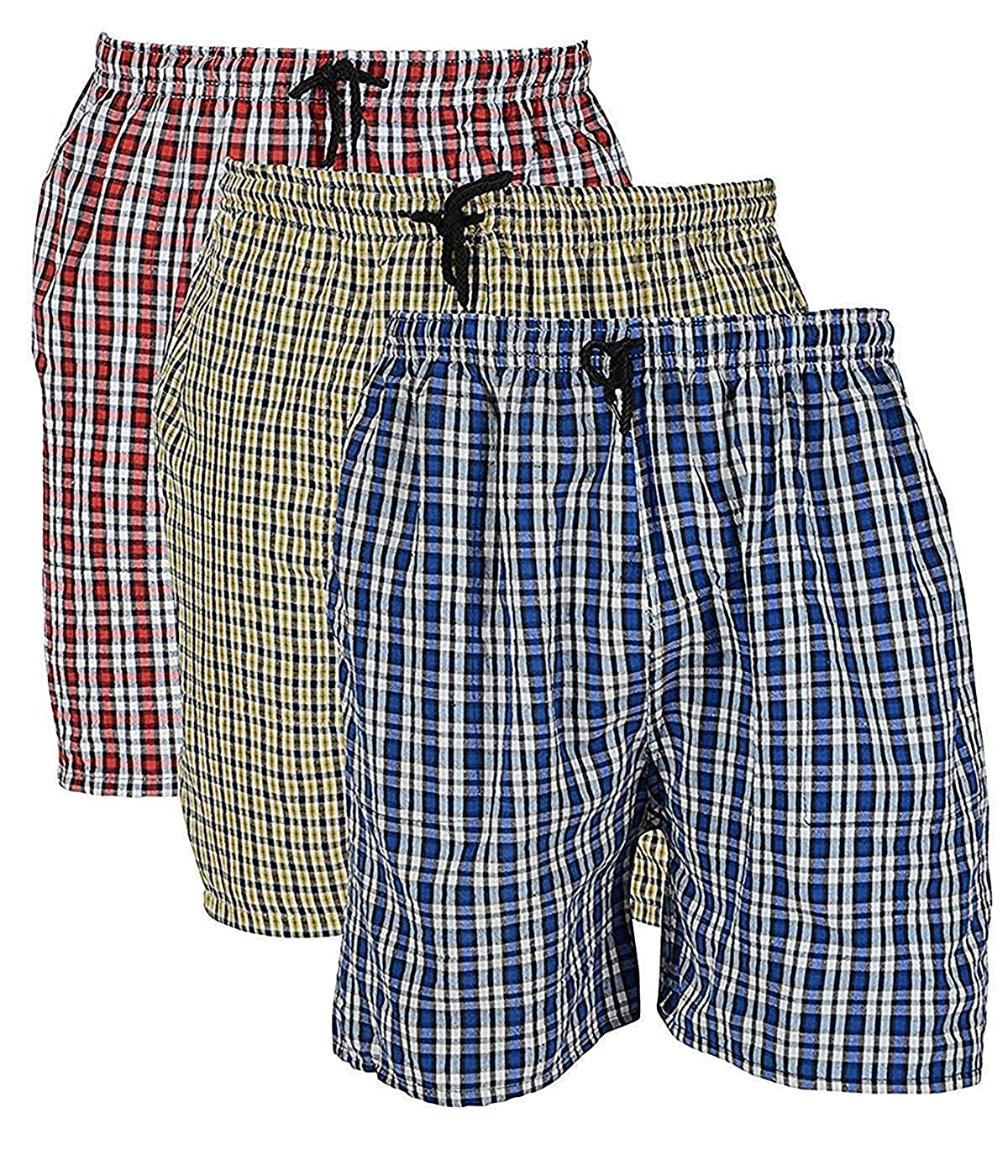 Men's Cotton Boxers (Free Size) Pack of 3