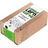 Liamba Lernkarte | 500 Karteikarten in der Praktischen Lernbox | Din A8 Format | 7,4 x 5,2 cm | 190g | Liniert | FSC | Karteikasten aus Recyclingkarton | in Deutschland Hergestellt
