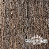 Waltons Thick Brushwood Thatch Fencing Outdoor Screen, Screening Panel for Gardens, Balcony, Terraces, Wind/Sun Privacy Shield Divider (4m x 1.2m)