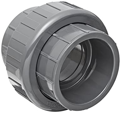 Spears 897 Series PVC Pipe Fitting, Union with EPDM O-Ring, Schedule 80, 1-1/2
