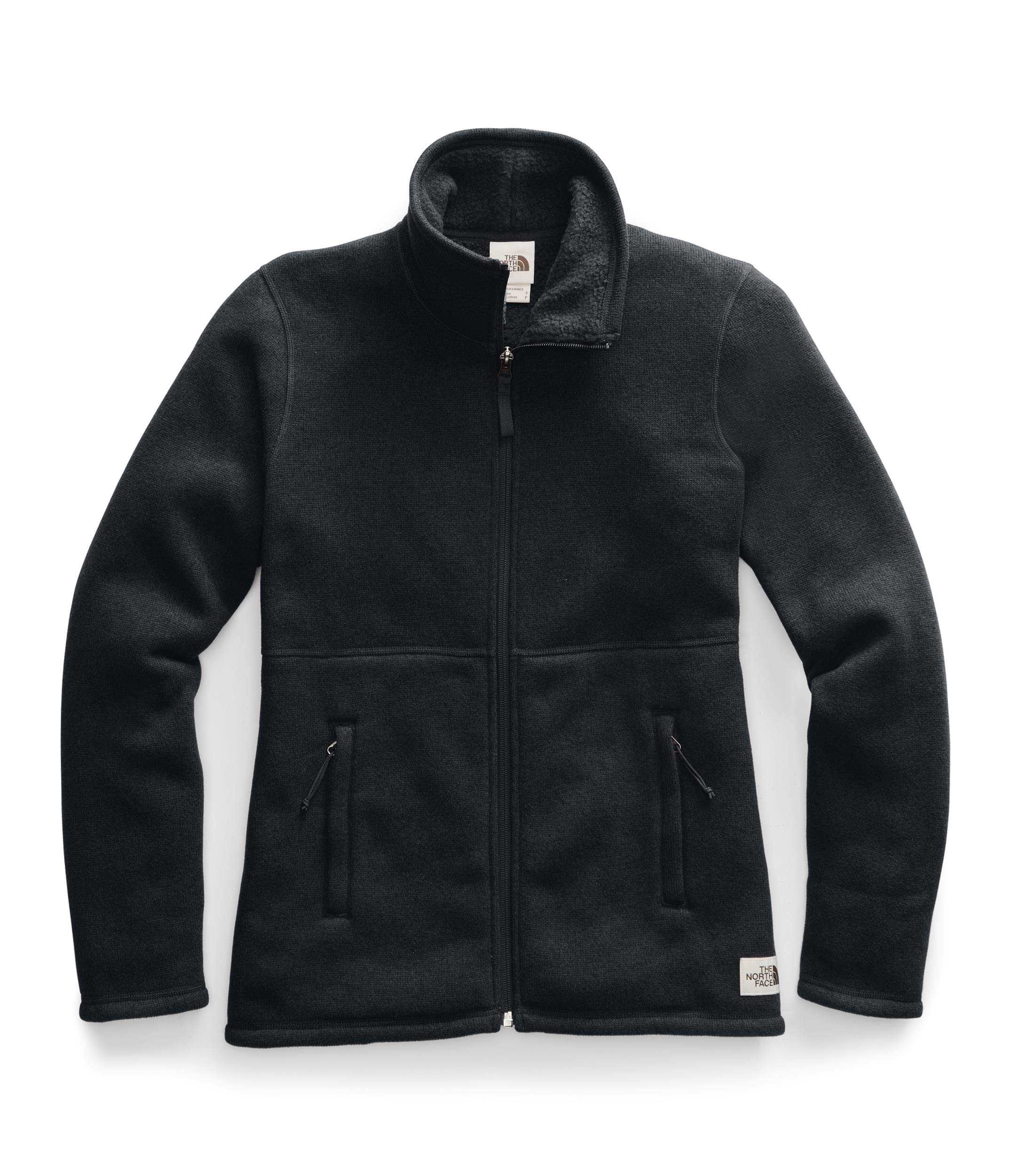 The North Face Women's Crescent Full-Zip, TNF Black Heather, L by The North Face