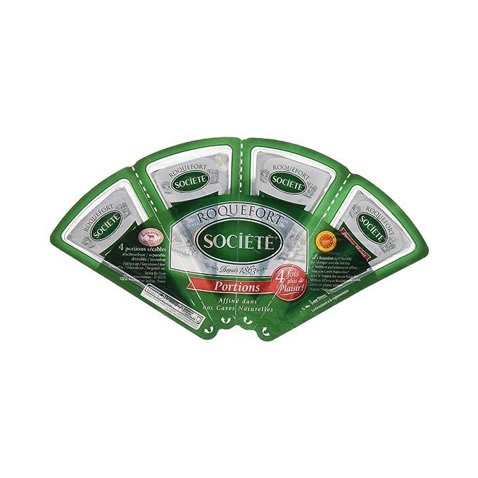 Société - Roquefort - Queso graso con leche de oveja - 4 x 25 g