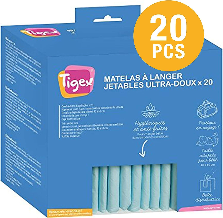 Tigex Cambiador Desechable para Bebé | 20 unidades