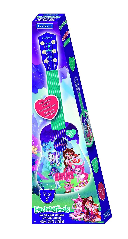 Instrumento Infantil a Partir de 3 a/ños Enchantimals- Guitarra 6 Cuerdas 53 cm Lexibook K200EC