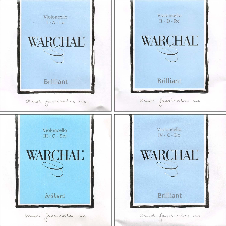 Warchal Brilliant Cello String Set - Synthetic Core - Medium Gauge Bri-4120