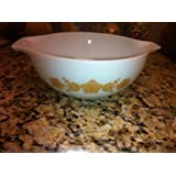 "1960-70's Vintage Pyrex "" Butterfly Gold #1 - 2 1/2 Quart Cinderella Mixing Nesting Batter Bowl"