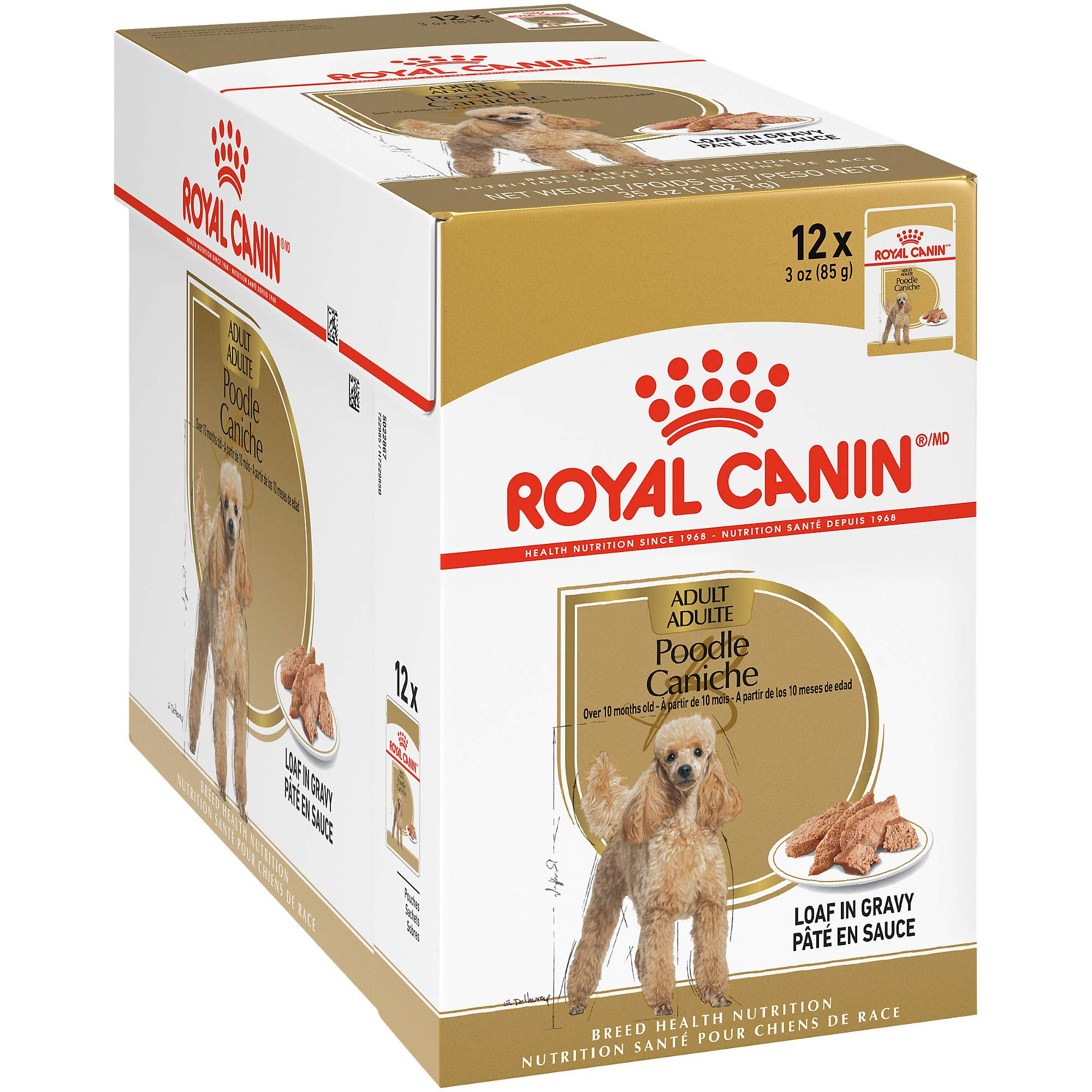 Royal Canin Breed Health Nutrition Poodle Loaf in Gravy Pouch Dog Food, 3 oz Pouch (Pack of 12) by Royal Canin