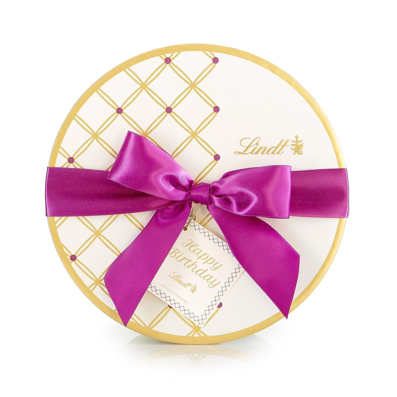 Amazon.com : Lindt Chocolate Happy Birthday Gable Gift Box, 50 Count ...