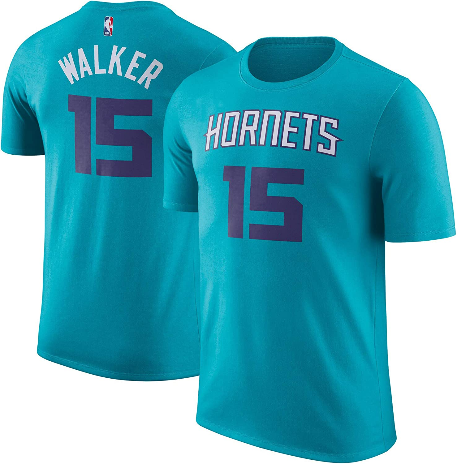 Outerstuff Kemba Walker Charlotte Hornets #15 Teal Youth Name /& Number Player T-Shirt