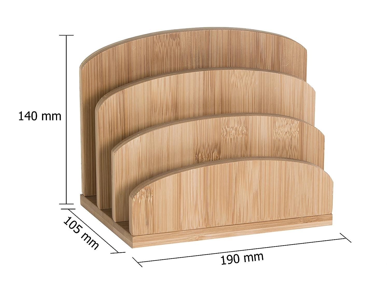 /Porta memo pad in bamb/ù con 500/fogli di carta Osco/