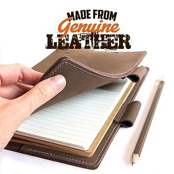 Cuaderno de piel auténtica, A5, fundas de piel, libro de ...