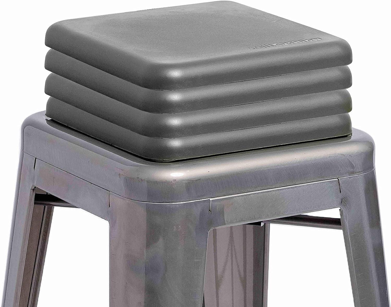 Sofft Cushion Square Metal Stool Cushion 2 Pack Grey