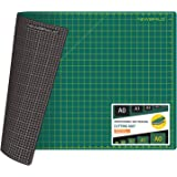 NEWBRAUG 24'' × 36'' Large Self Healing Gridded Rotary Cutting Mat, Big Double Sided 5-Ply Cutting Board for Sewing, Quilting