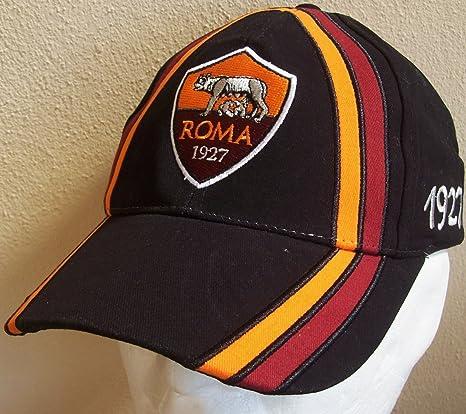 CAPPELLO CAPPELLINO ROMA UFFICIALE BERRETTO CAP nero con VISIERA ... 99477d0c04ea