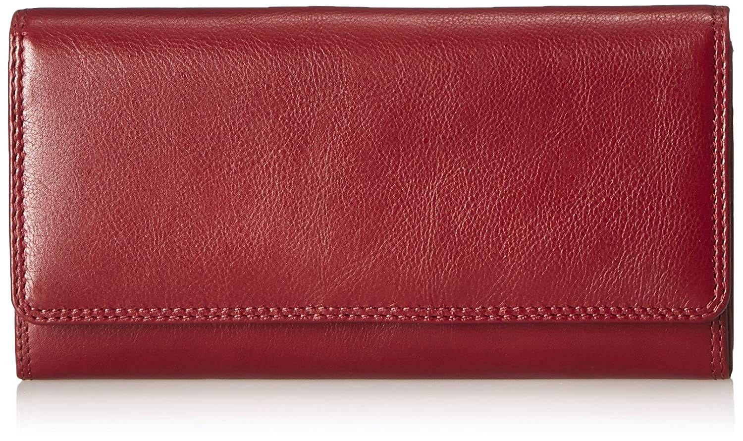 Visconti Heritage 35 Soft Leather Large Ladies Purse Wallet (Red)