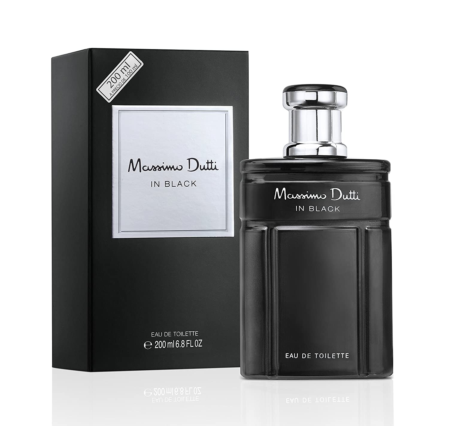 Massimo Dutti In Black - Agua de tocador masculina, 200 ml: Amazon.es: Belleza