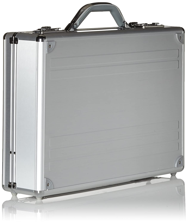Alumaxx Kronos Padded Attache Case for Laptop Silver Aluminium