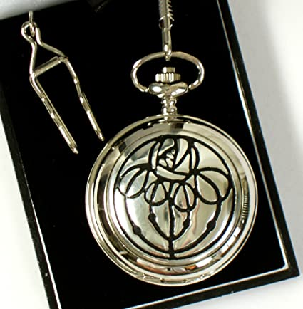Pink-Cat-Shop Charles Rennie Mackintosh Bud Pocket Watch