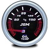 JOM 21118S Manomètre, température d'huile, aspect miroir noir