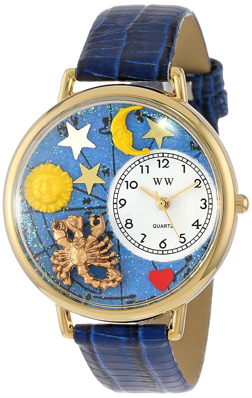 Whimsical Watches G-1810011 - Reloj analógico de Cuarzo Unisex, Correa de Cuero