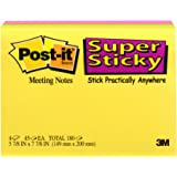 Post-it Super Sticky Notes, 8 in x 6 in, Rio de Janeiro Collection, 4 Pads/Pack, 45 Sheets/Pad (6845-SSP)