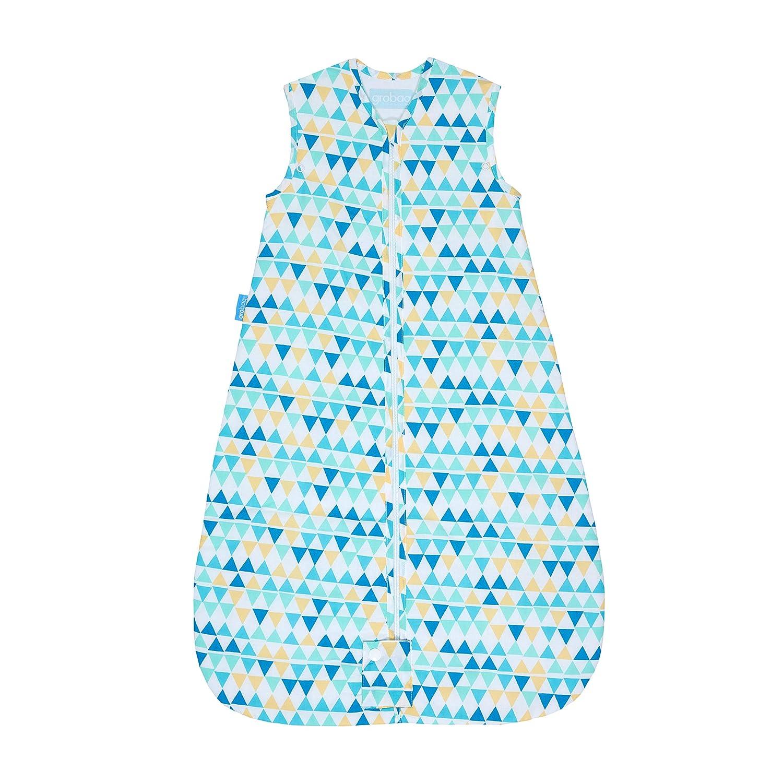 Tommee Tippee Grobag Baby Cotton Sleeping Bag, Sleeping Sack - Light 1.0 Tog for 69-74 Degree F - Capri Zig Zag - Medium, 6-18 months, Turquoise