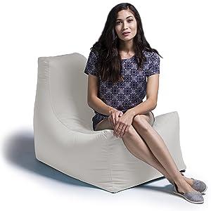 Jaxx Juniper Outdoor Bean Bag Patio Chair, Pearl