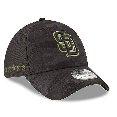 info for 0abc7 61b77 New Era Authentic San Diego Padres Memorial Day Flex Stretch Fit 39Thirty -  Black Camo
