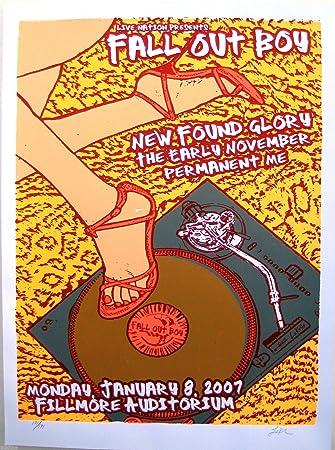 Amazon com: Fallout BOY - Original 2007 Concert Poster