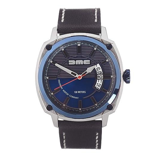 DMC DeLorean - Reloj de pulsera alfa para hombre | DeLorean Motor Company | Caja de acero ...