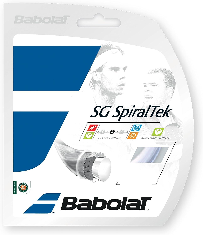 Unisex Adulto Babolat SG Spiraltek 12m Cordaje de Tenis