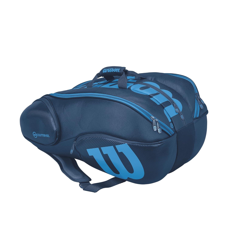 ウィルソン テニス ラケットバッグ VANCOUVER 15PACK (ラケット15本収納可能) B074F9RX5B  ブルー 76×40×40cm