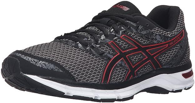 ASICS Men's Gel-Excite 4 Running Shoe Black/True Red/Carbon 8 M US