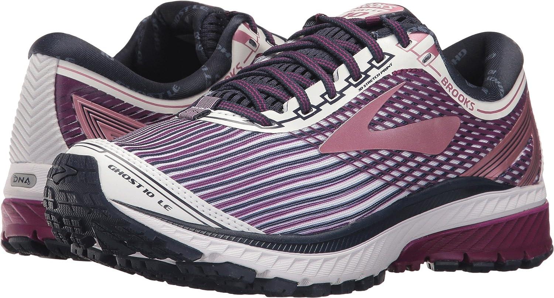 Brooks Women's Ghost 10 Running Shoe B06XHF34GQ 5.5 B(M) US|White/Purple/Rose