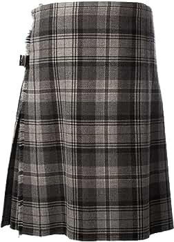 TARTAN TWEEDS para Falda Escocesa Hamilton 8 Yardas Escocesa Gris ...