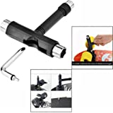 Gearmax® Black Color Skate T Tool Skateboard T Tool for Penny Board T Tool for Longboard Screwdriver Metal All in One Tool