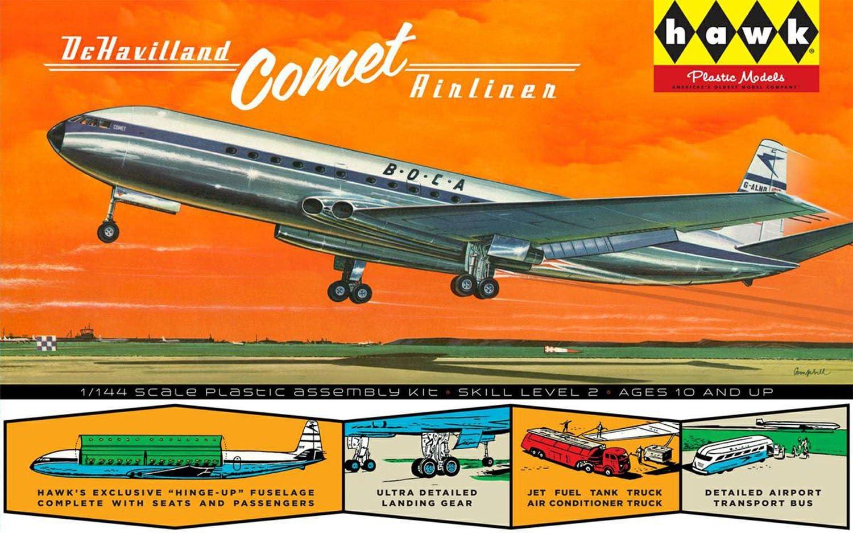 Lindberg Models Echelle 1 144/Hawk Avion Britannique DeHavilland Comet mod/èle Kit