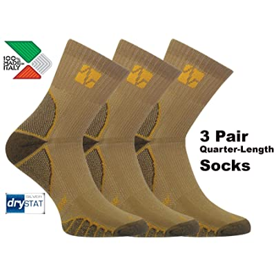 Northstar Tactical, Vitalsox Italy- Silver Drystat Odor Resistant Quick Dry Socks 3 Pairs