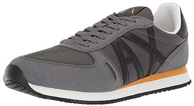 29d3145efe5f Armani Exchange Men s Retro Running Fashion Sneaker  Amazon.co.uk ...