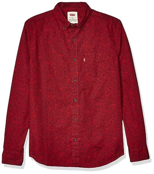 camisa manga larga ajustada algodon mujer levis