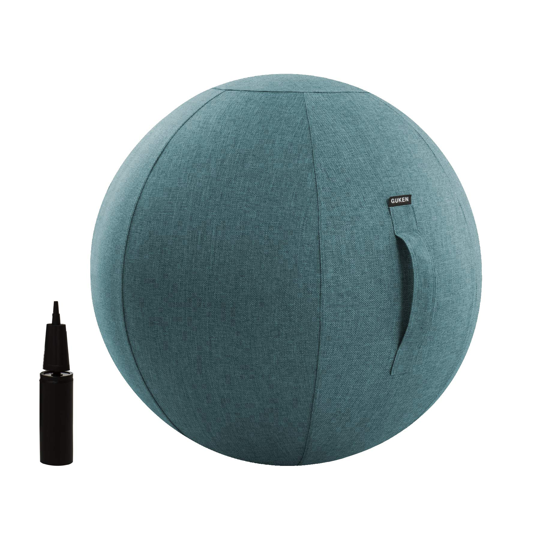 Ball Chair - Lightweight Self-Standing Ergonomic Posture Activating Exercise Ball Chair with Cover Multi-Purpose Yoga Exercise Ball Stability, Fitness and Birthing Ball with Inflator and Handle 65