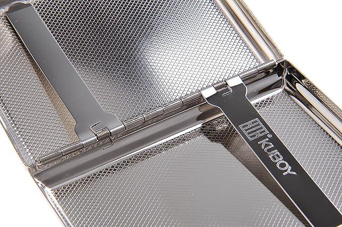 Étui à cigarettes fait en acier inoxydable de haute qualité, design minimaliste et classique, pour 16 cigarettes, KC4-01