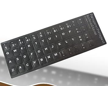 Pegatinas de repuesto para teclado portugués, color negro, letras negras para ordenador portátil: Amazon.es: Electrónica