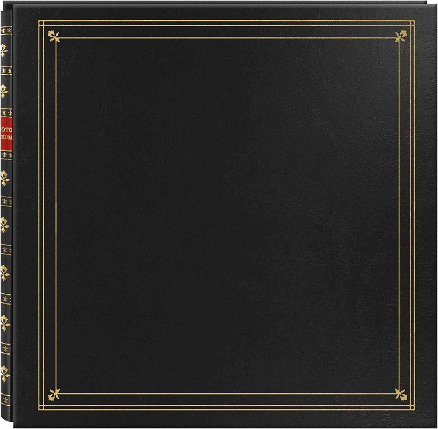 """Pioneer 300 Pocket Post Bound Black Leatherette Cover Photo Album for 4""""x6"""" Prints - Assorted colors"""