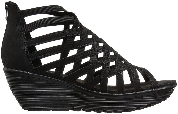 737f0eb474 Amazon.com | Skechers Women's Parallel - Dream Queen Wedge Sandal |  Platforms & Wedges