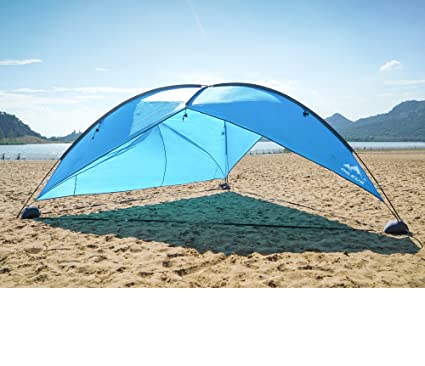 Oileus Super Big Canopy Tent With Sand Bags Easy Up Beach Tent Sun Shelter And