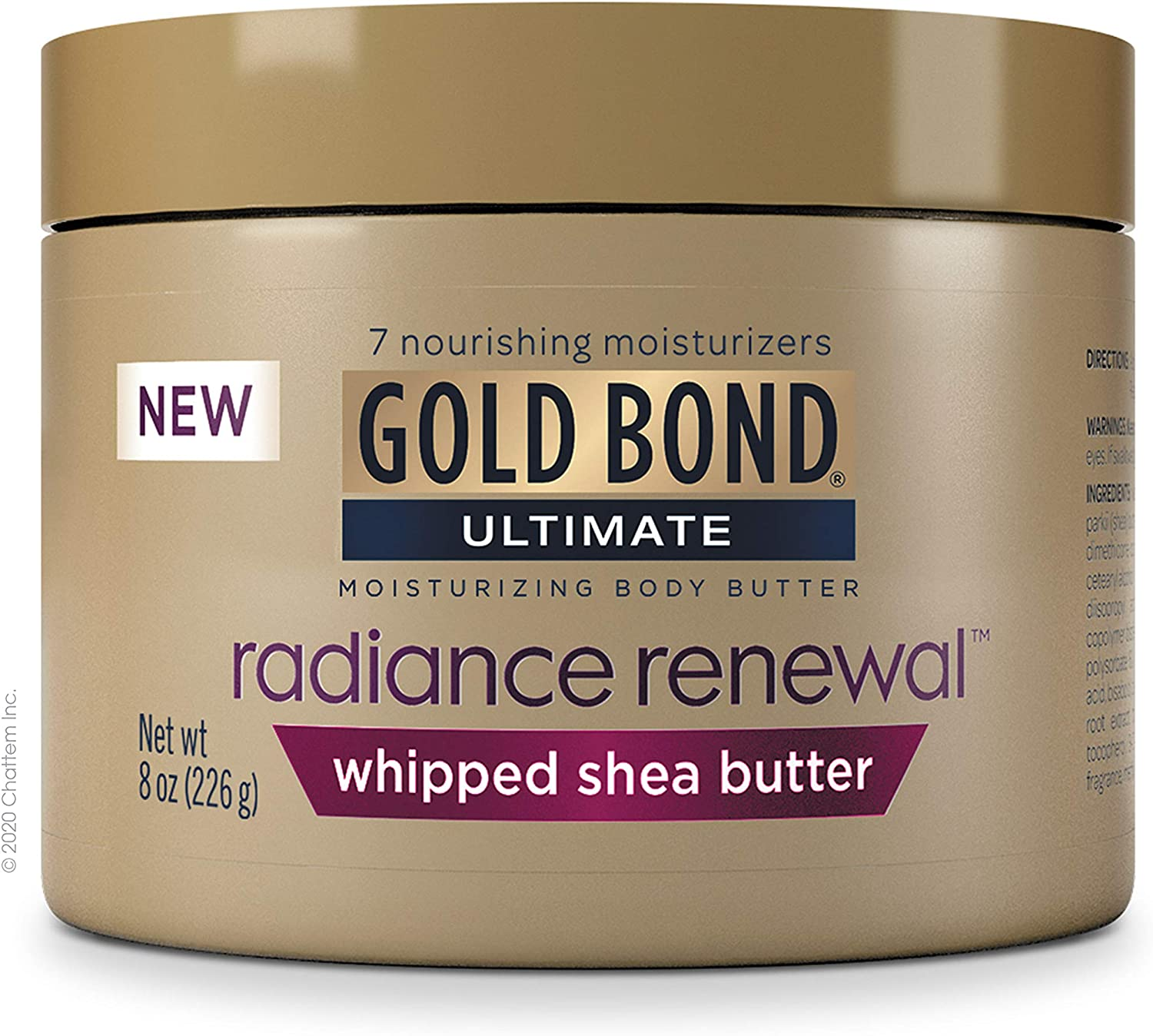 Gold Bond Radiance Renewal Cream, Whipped Butter, 8 Ounce: Health & Personal Care