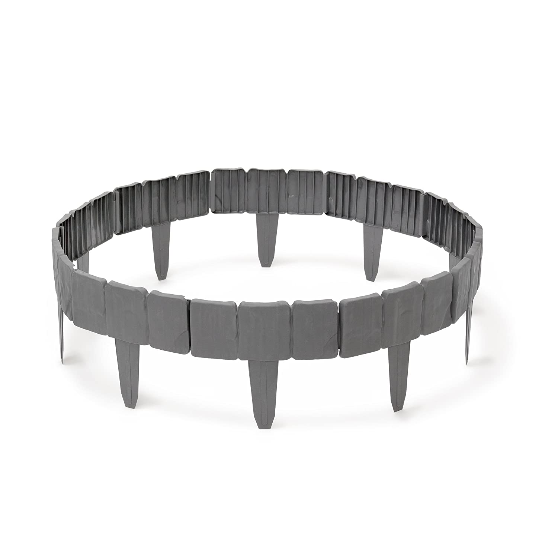 Relaxdays Rasenkante HBT ca 10 x 250 x 2 cm Flexible